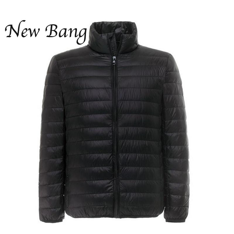 Winter Jacket Men Ultralight Duck Down Jacket Outdoors Stand Collar Lightweight Coat With Carry Bag casacas de pluma hombre