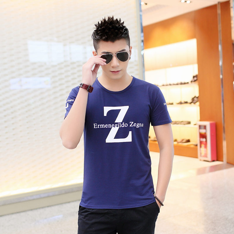 2016 Summer new T-shirt gold gym cotton T-shirt man didnt O neck top leisure men's clothing short sleeve M - 2 xl free delivery(China (Mainland))