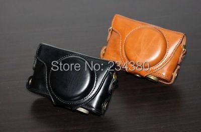 Leather Camera Case Bag Cover + Camera Strap Guard For Fujifilm Fuji X-F1 XF1 Finepix<br><br>Aliexpress