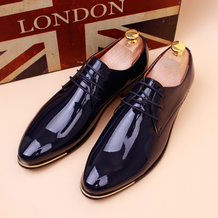 2016 shoes leather loafers oxford shoes for shiny