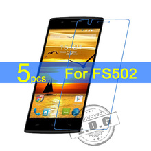 5pcs Ultra Clear LCD Screen Protector Film Cover For Fly FS502 Protective Film  +  cloth free shipping