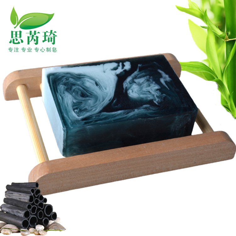 Bamboo Charcoal Handmade Soap Treatment Skin Whitening Soap Removal Of Melanin Bath And Body Works Remover Acne Treatment Soap(Hong Kong)