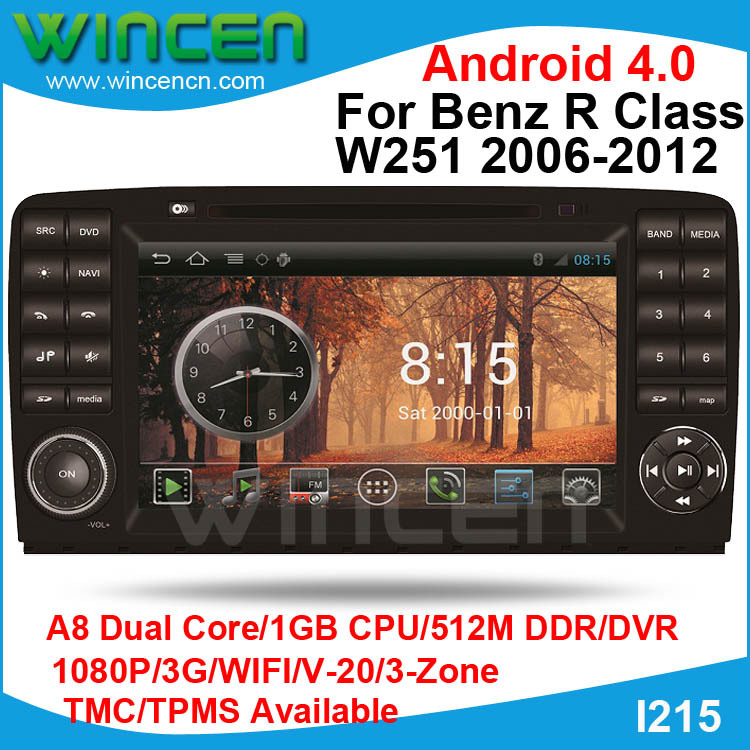 S150 Android 4.0 Car DVD GPS Player for Benz R Class W251 2006-2012 with Canbus Car Audio GPS Radio Recorder TMC TPMS(opt)(China (Mainland))