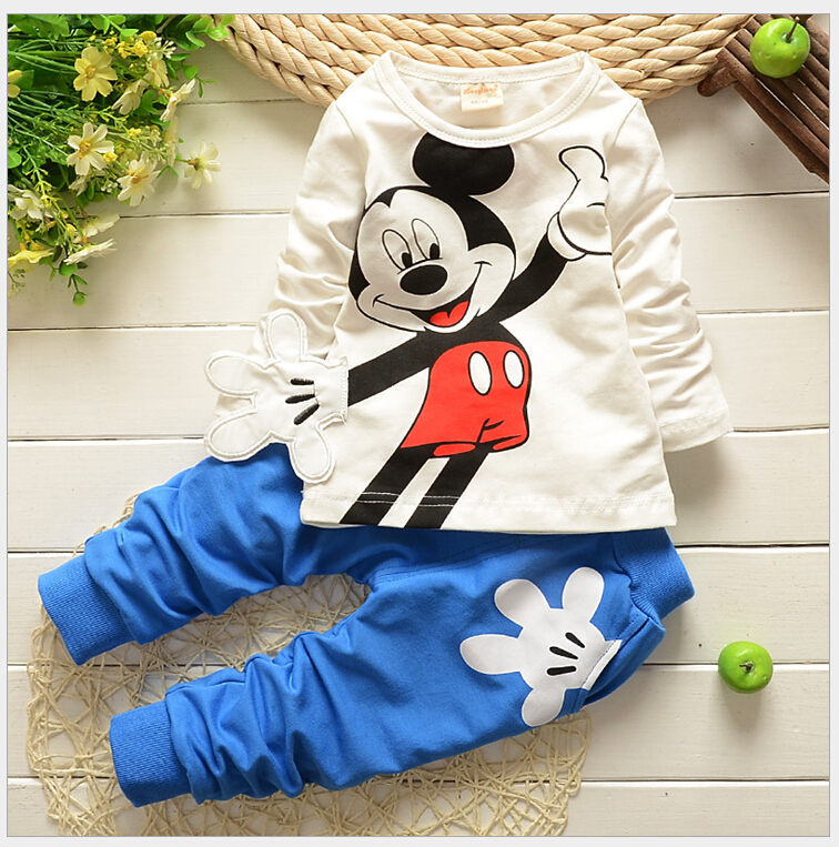 New Arrival 2015 Spring Newborn Suits Baby Girls Boys Brand Mini Suits Fashion Sports Kids T