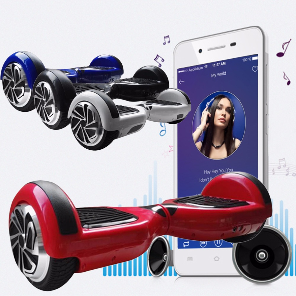 6.5inch Self Balancing Electric Scooter Hover Board Bluetooth Speaker Effort less Riding Experience Cheapest bag Free Shipping(China (Mainland))