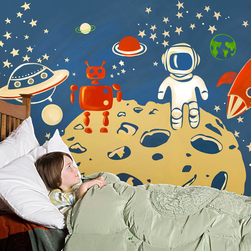 Buy mural children room large murals for Creation mural kids