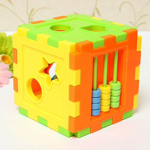 Baby Colorful Block Matching Sorting Educational Toy Geometry Shape Intelligence Training Box For Kids(China (Mainland))
