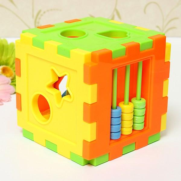 Baby Colorful Block Matching Sorting Educational Toy Geometry Shape Intelligence Training Box For Kids(China (Mainland))