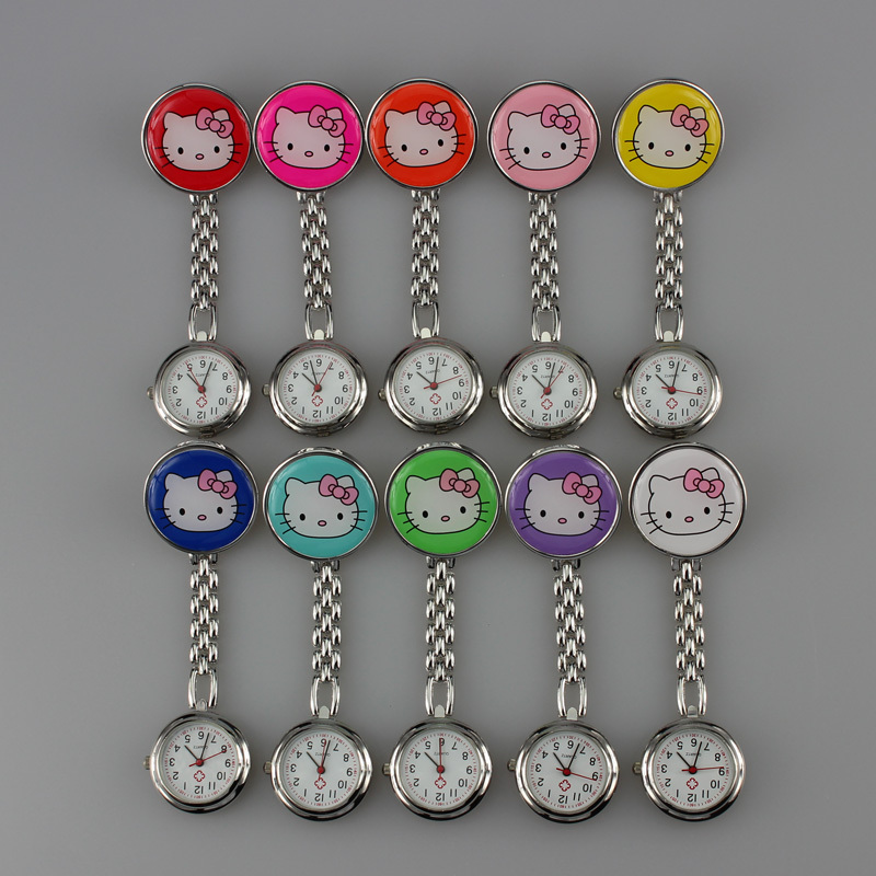 Free drop Shipping retail wholesales hot sales high quality cute hello kitty nurse alloy Stainless steel