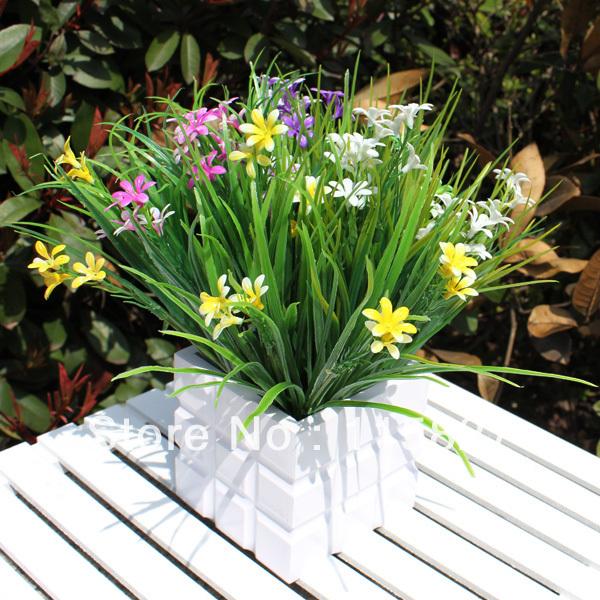Fleur en bois artificielle - Pot fleur bois ...