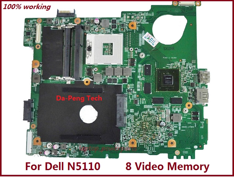 J2WW8 0J2WW8 CN-0J2WW8 Laptop Motherboard for dell inspiron N5110 DDR3 8 Video Memory mainboard(China (Mainland))