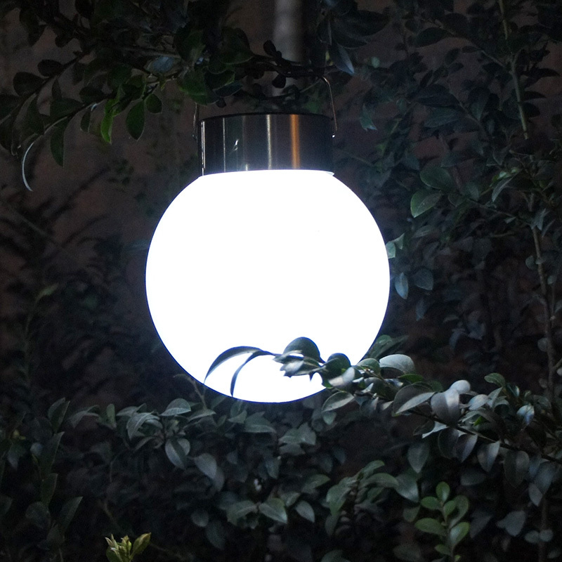 Solar Lamps outdoor garden lighting Solar Hanging Lamp 2015 new Stainless Steel Ball lampada solar luminaria