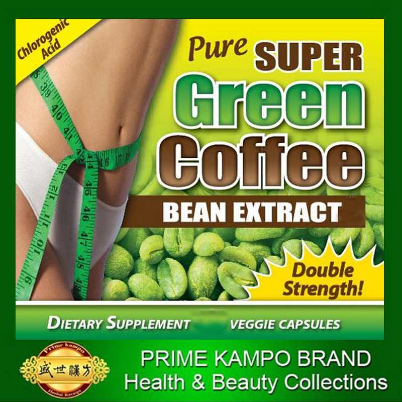 3 Pack 90 days supply free shipping pure green coffee bean extracts with 60 HCA for