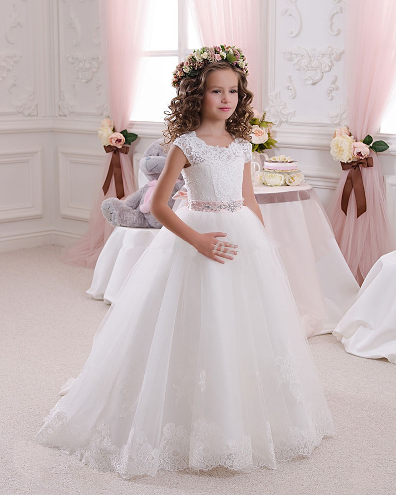 2016 hot white flower girl dresses for weddings lovely for Girls dresses for a wedding