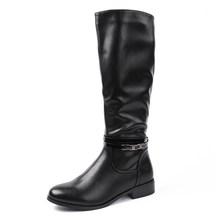 AIMEIGAO Moda Bayanlar Diz Yüksek Kışlık Botlar Yumuşak Deri Çizmeler Kadın Siyah Zip Sıcak Kürk Kadın Uyluk Yüksek Çizmeler Ayakkabı(China)