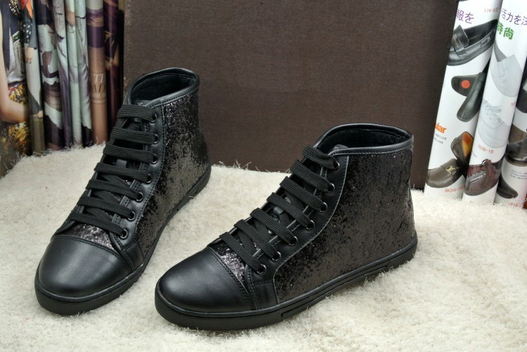 Women's Black High Top Fashion Sneakers Hot sale black women sequine