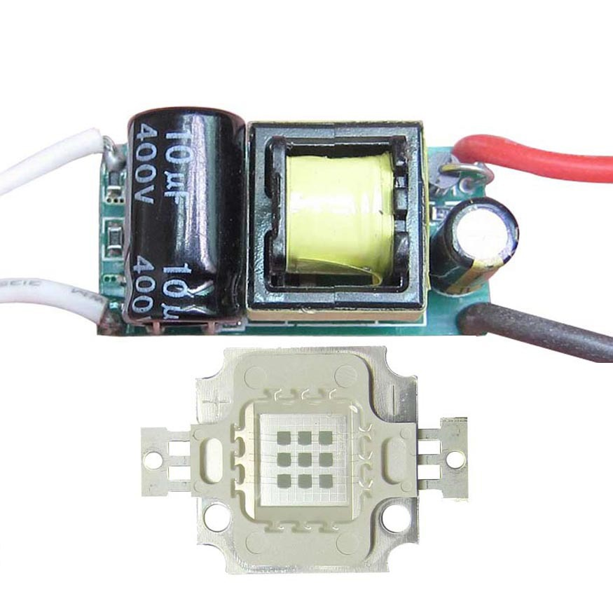 10W Square Base UV Ultraviolet 395nm LED diodes Light Parts + AC 85~265V Non-Waterproof LED Driver<br><br>Aliexpress