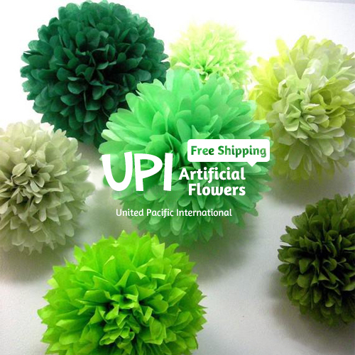 """8"""" 20cm 50pcs Paper Flowers Ball Decorative Flowers For Wedding Decoration Home Decor Tissue Paper Pom Wholesale Free shipping(China (Mainland))"""