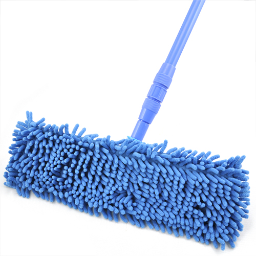 HOT SALE!New Extendable Microfibre Mop Cleaner Sweeper Wet Dry - Blue(China (Mainland))