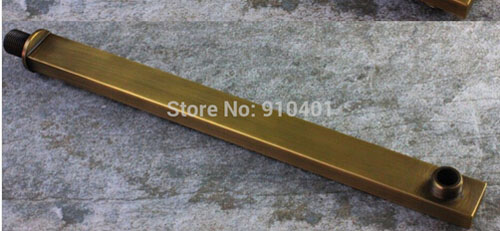 """Whole And Retail Widespread Antique Brass Polish 10"""" Shower Arm Chorme Brass Wall Mounted(China (Mainland))"""