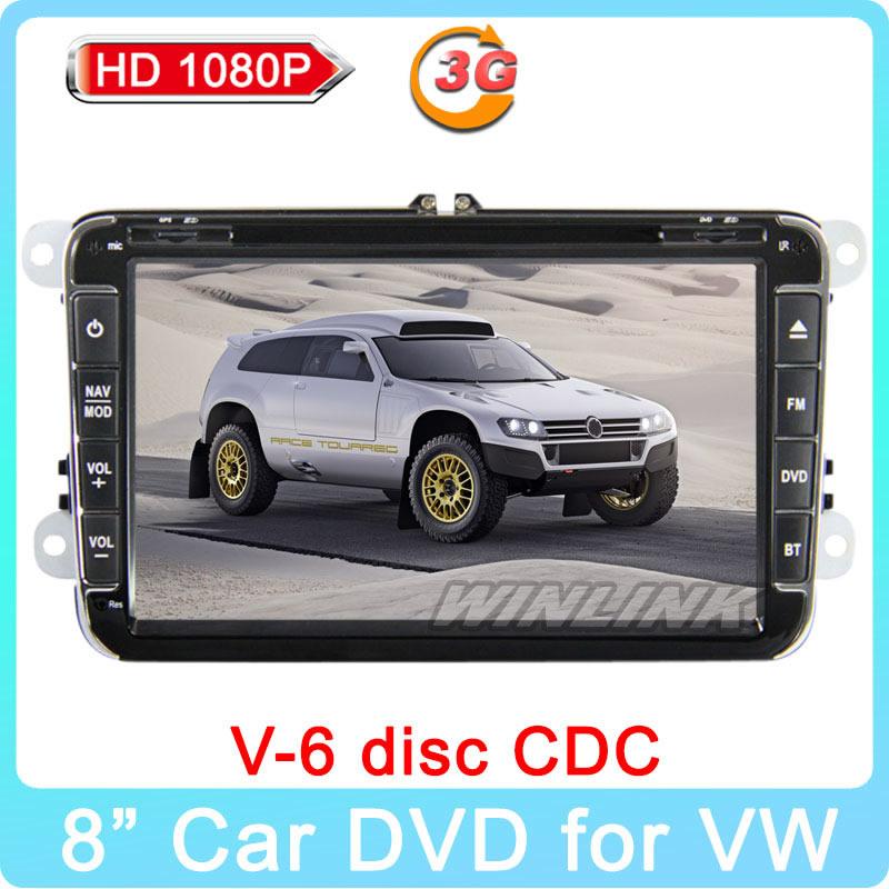 "2015 New 8"" Hot GPS DVD Player for VW Jetta Golf MK5 Golf 5 6 T5 VI Passat B6 Polo Tiguan Touran Caddy 3G Internet + Canbus(China (Mainland))"