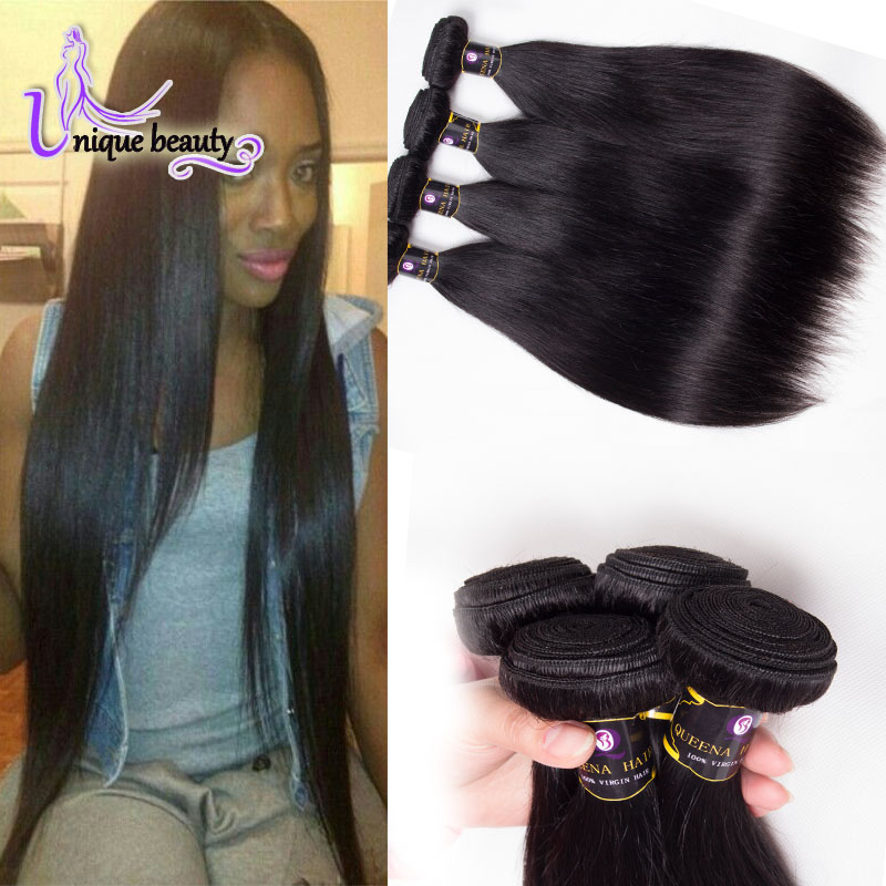 6A Unprocessed Virgin Brazilian Hair Cheap Straight Human Hair Bundles Virgin Brazilian Straight Hair 4pcs Lot Top Hair Vendors