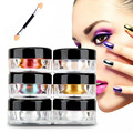 GEACEFUL1g/Box Gold Sliver Nail Glitter Powder Shinning Mirror Eye Shadow Makeup Powder Dust Nail Art DIY Chrome Pigment Glitter
