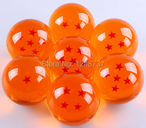Super Big 7CM Japanese Animation Dragon Ball 7 Stars Crystal Ball set of 7 pcs new in box High Qutaily(China (Mainland))