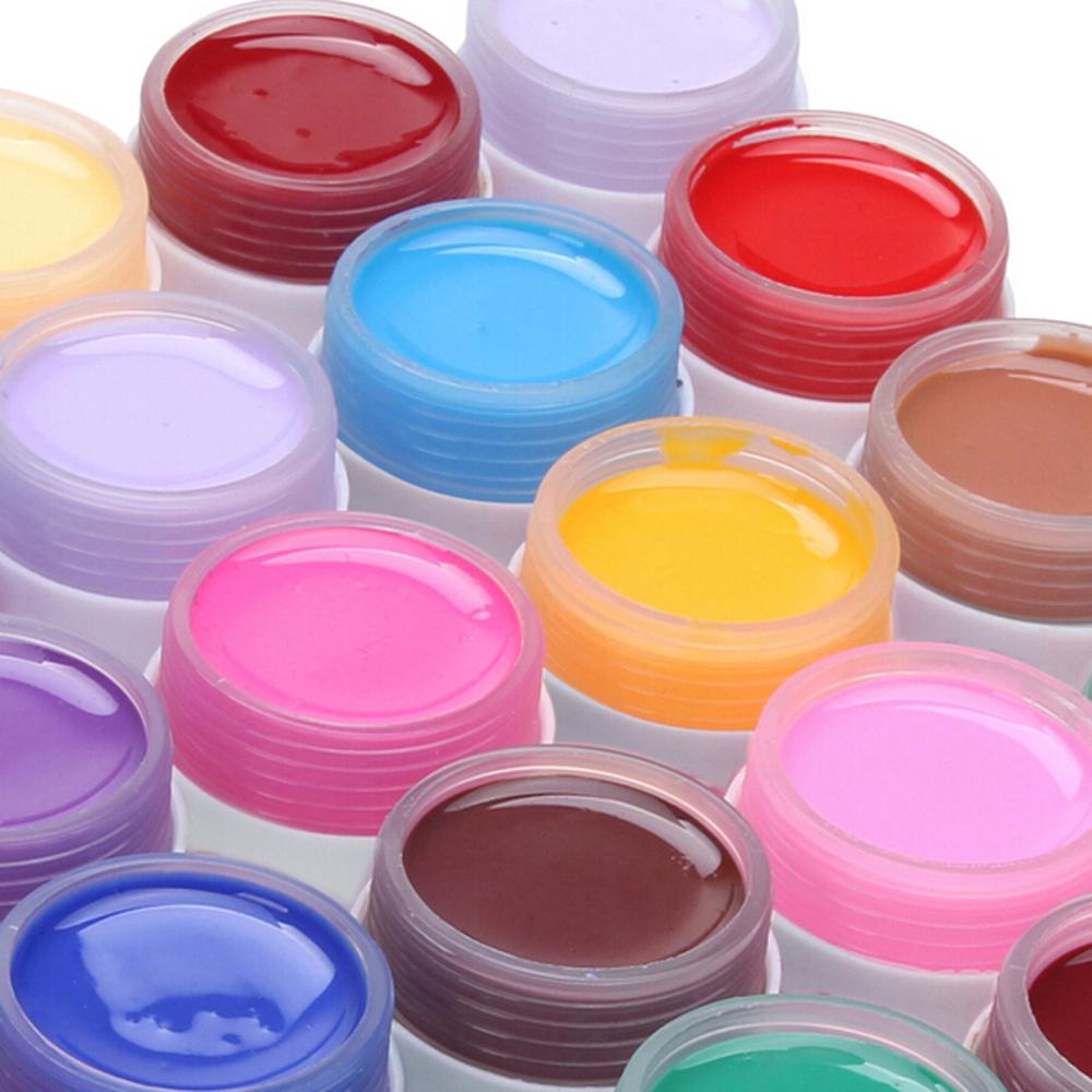 New Fashion Pure Colors Gel Nail Polish UV Nail Art DIY Decoration for Nail Manicure 36 Pots(China (Mainland))