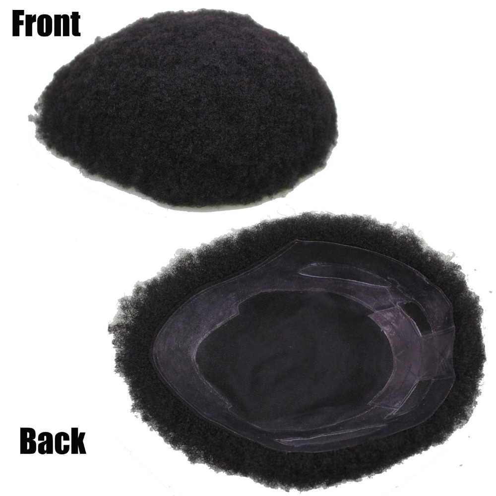 Human Hair Afro Curly Toupee For Black Men 9.5X7.5Inch Mono Base With Hard Pu Reforced In Stock Ups Or Dhl Free Shipping(China (Mainland))