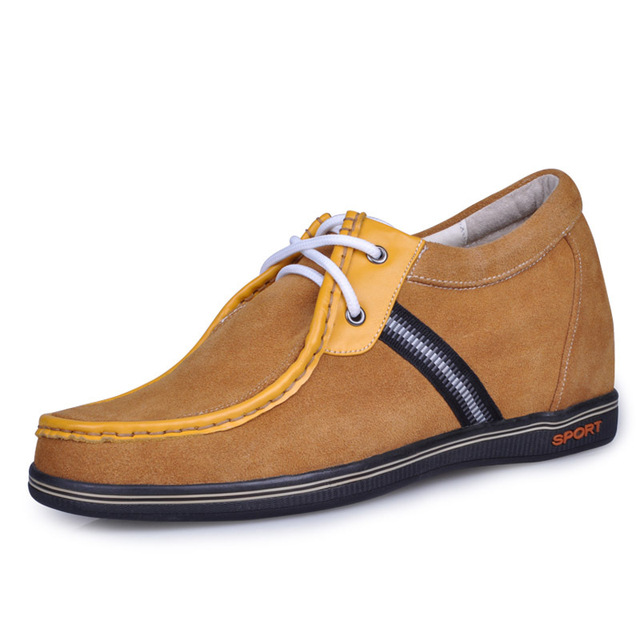 9261_4-New style men's Yellow casual height increasing shoes on sale-free shipping