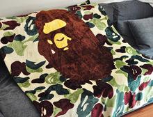150*130cm Japan Brand Orignal Camouflage Bape blanket coral fleece blanket bedding sheet quilt sofa TV blanket APE PORTER(China (Mainland))