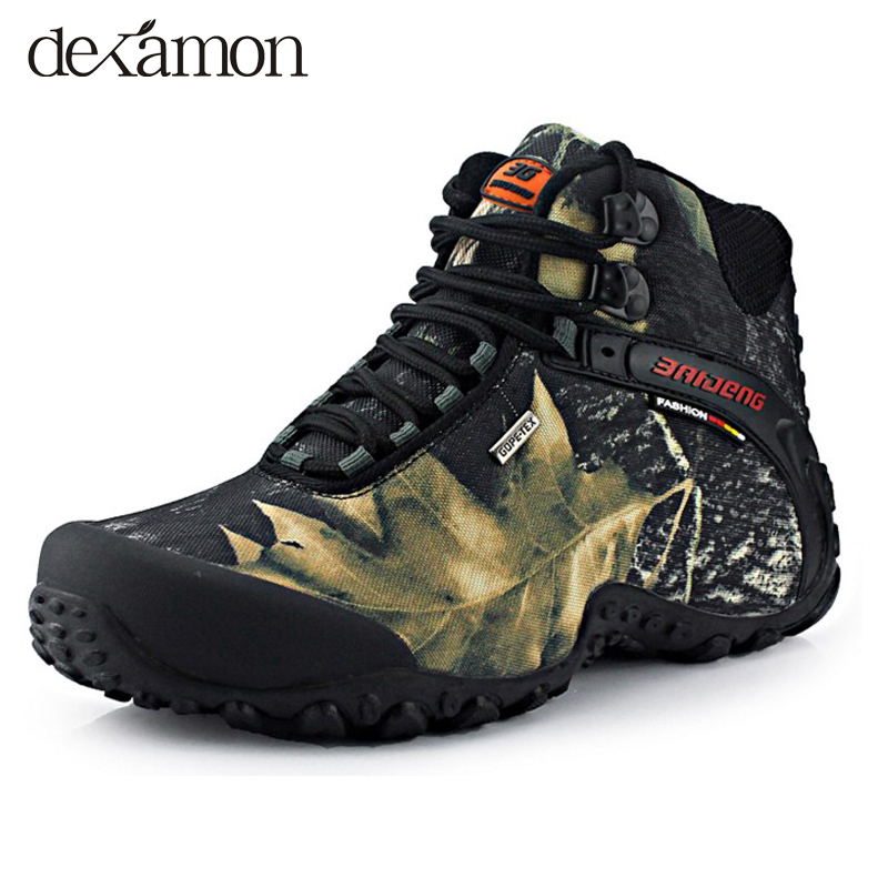 2015 new fashion waterproof canvas hiking shoes boots anti