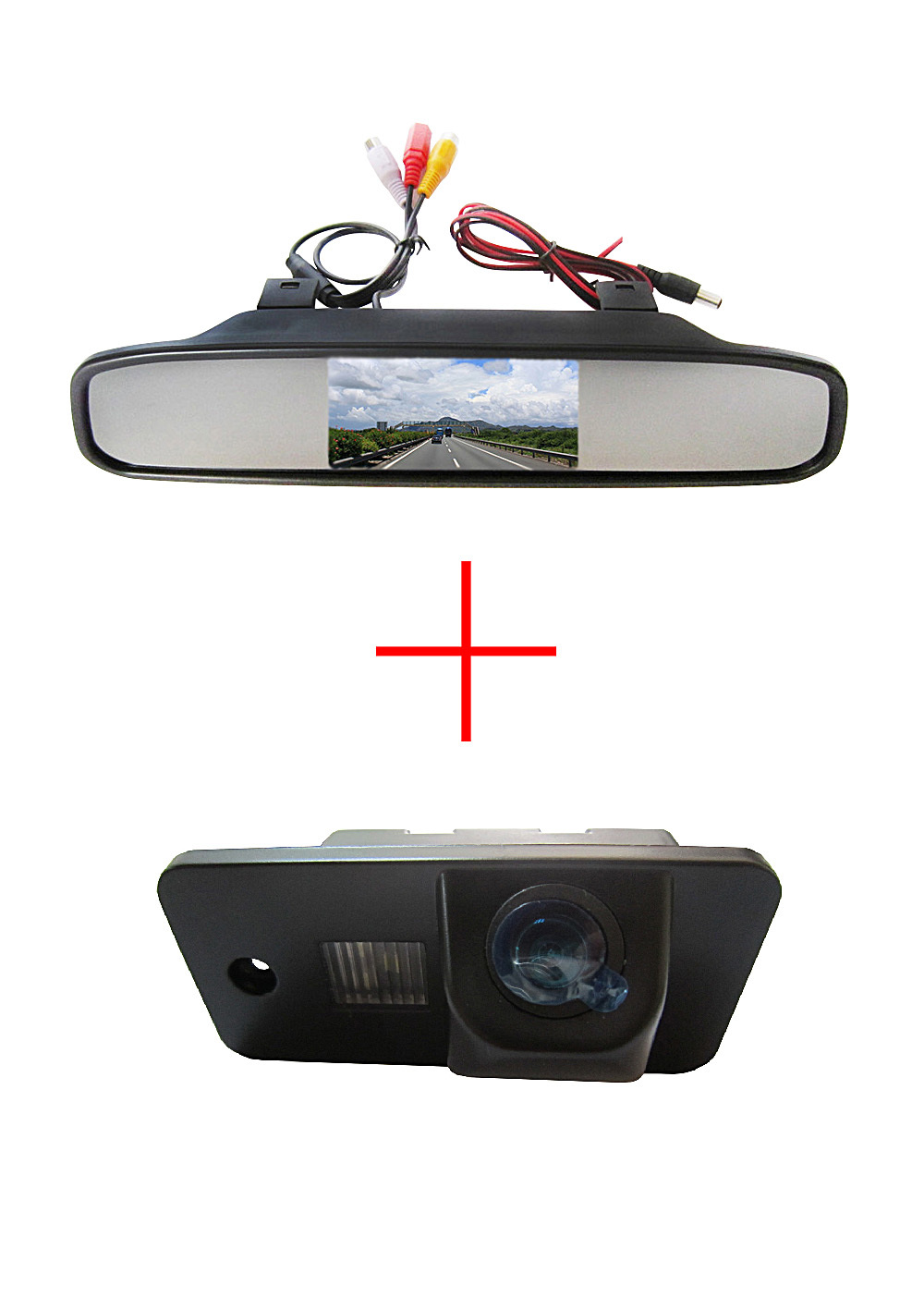 Color CCD Car rear view camera AUDI A3 S3 A4 S4 A6 A6L S6 A8 S8 RS4 RS6 Q7 4.3 Inch Rearview Mirror LCD Monitor DVD/VCR - Fuway HK Co., Ltd store