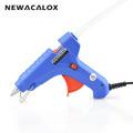 NEWACALOX Applicator 40W EU Plug Hot Melt Glue Gun with 1pc 11mm Glue Stick Heat Temperature
