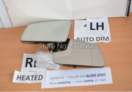 2010-2014 OEM Mercedes W212 W207 E class AUTO DIM MIRROR GLASS Left+Right Side set - PHX PARTS STORE store