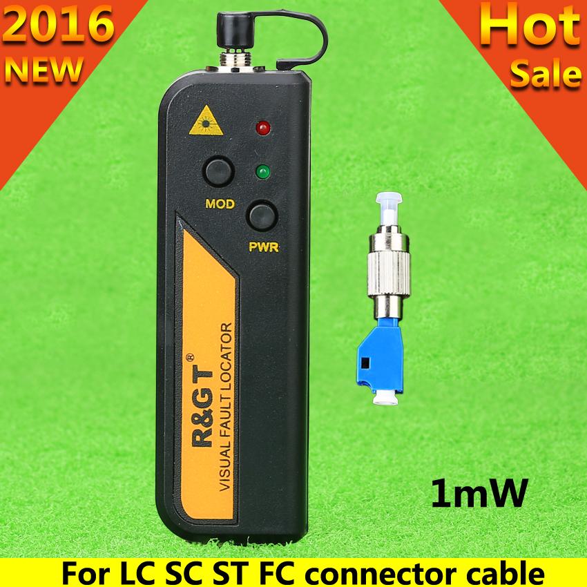 1mW 650n Red Laser Visual Fault Locator Fiber Optic Cable Tester Visual Fault Locator LC/FC/SC/ST Adapter Fiber Optical CATV(China (Mainland))