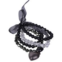 1 Piece Free Shipping Fashionable Opals Heart Pendant Lace Beads Bracelet(China (Mainland))