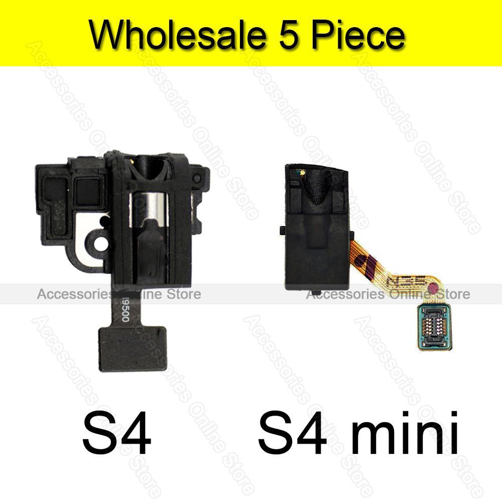 Ear phone Earphone Jack Headphone jack Flex For Samsung Galaxy S4 i9500 i9505 S4 mini i9190 i9195 Wholesale(China (Mainland))
