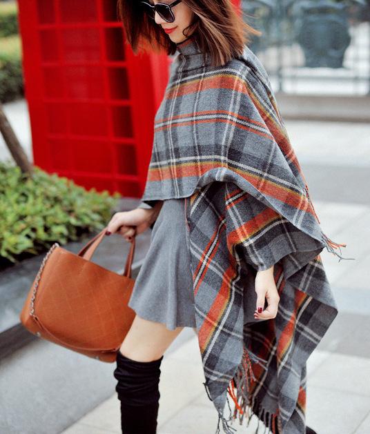 Одного мода классический ретро оригинальный плед шерстяной шарф платок длинный абзац M105