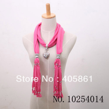 Hot Sale Popular Women's Scarf 2015 New For Autumn Winter With Jewelry Pendants Free shipping W013