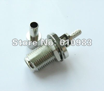 Free shipping (5 pieces/lot) F Crimp Jack female RF coaxial connector straight for LMR100(China (Mainland))