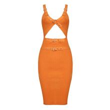 Liser 2018 новое летнее женское платье с v-образным вырезом повязки бандаж платье сексуальное облегающее элегантное знаменитвечерние ое праздн...(China)