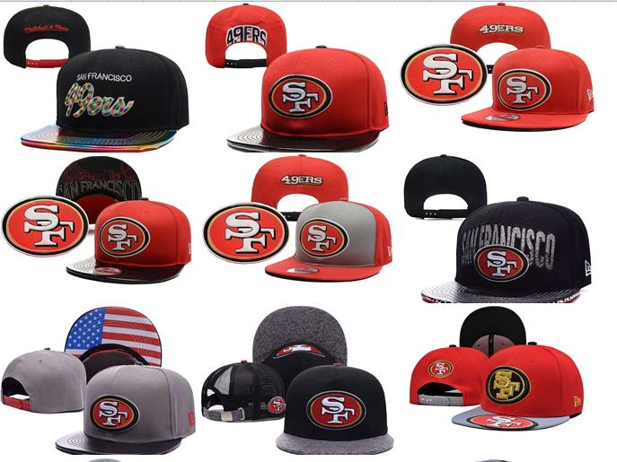 2016 NO-4 NEW arrive Free fast shipping Best Quality 21 Style San Francisco 49ers Snapbacks cap gorras bones hats(China (Mainland))