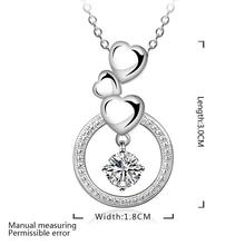 New necklace cute charms high quality silver Plated charms for women lady wedding jewelry crystal necklace
