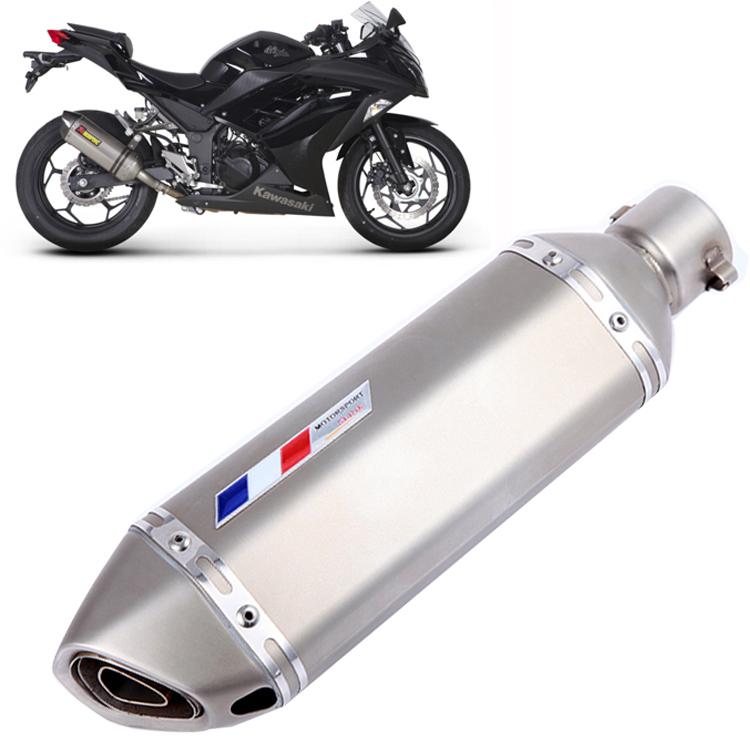 Muffler Universal Motorcycle Exhaust Pipe Muffler CBR CB400 CB600 CBR600 CBR1000 CBR250 CBR125 ER6N YZF600 Z750 ER-6R ER-6N(China (Mainland))