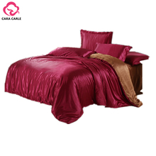 4pcs Bedding Set Silk Cotton King Queen Twin size Duvet Quilt Bedlinen Covers Bedclothes Luxury Bedsheet Comforter Bedding Sets(China (Mainland))