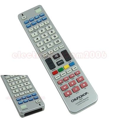 J34 Free Shipping New 8 in 1 Universal Remote Control Controller For TV CBL SAT VCR DVD AMP(China (Mainland))