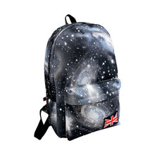 Fashion Unisex Stars Universe Space Printing Backpack School Book Backpacks British-flag Shoulder Bag HB88(China (Mainland))