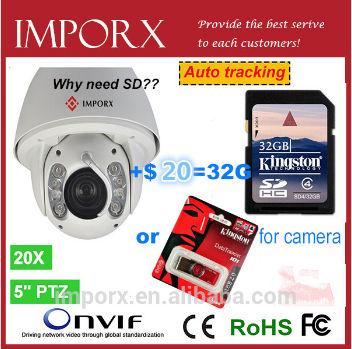 Audio IO CVBS Auto Tracking SONY 20x optional Zoom PTZ IR CCTV Security Camera Surveillance Waterproof